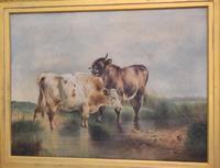 Large Oil Painting by William Perring Hollyer Titled 'Courtship' (4 of 10)