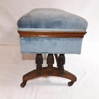 Antique French Stool Window Seat Storage Box Gillows c.1880 (10 of 11)