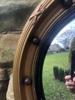 Antique Gilt Framed Convex Mirror (2 of 5)