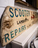 Hand Made Painted Shop Sign for Scooters Lambretta Vespa Puch (2 of 4)