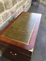 Brass Bound Mahogany Military Pedestal Desk (6 of 14)