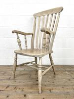 Set of Four Slat Back Antique Kitchen Chairs (9 of 10)