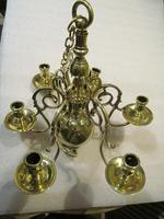 A Dutch Style 6 Branch Brass Ball Chandelier