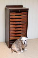Mahogany Tambour Front Filing Cabinet (6 of 10)