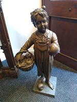 A Bronze Of A Young Girl With A Basket Full Of Apples (2 of 7)