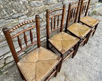 Set of 4 Antique Elm Country Chairs (4 of 13)