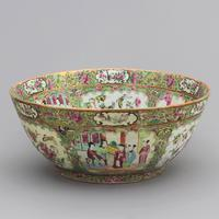 19th Century Cantonese Famille Rose Porcelain Bowl c.1880 (3 of 8)