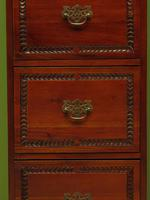 Tall Narrow Jali Style Chest of Drawers, Bedroom or Office Chest (8 of 13)