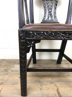 Victorian Carved Oak Gothic Armchair (M-1223) (8 of 12)