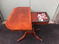 Quality Inlaid Mahogany Fold Over Games Table (9 of 12)