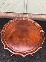 Antique Mahogany Tripod Wine Table Shaped Top (2 of 4)