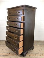 Early 20th Century Antique Oak Narrow Chest of Drawers (9 of 11)