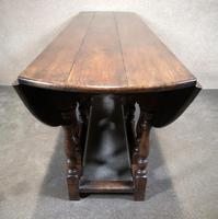 Large Oak Drop Leaf Table, Gate Leg Table, Dining Table - Seats Eight Persons (6 of 9)
