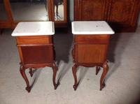 Pair of French Mahogany Bedside Cabinets (2 of 8)