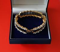 Vintage Designer 50s  Enamel Rhinestone Bracelet – Boxed Jewellery /  Present (3 of 9)
