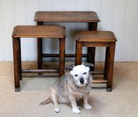 Solid Oak Nest of Three Tables (7 of 9)