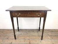 Antique 19th Century Oak Side Table (2 of 12)
