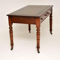 Antique Victorian Mahogany Leather Top Writing Desk (3 of 10)