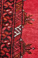Handmade Bokhara wool rug vibrant red ground (9 of 11)