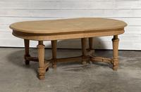 Huge Bleached Oak French Extending Dining Table (11 of 24)