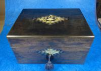 Victorian Ebonised Jewellery Box with Mother of Pearl & Abalone Inlay (2 of 18)