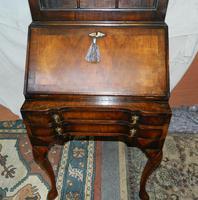 Walnut Bureau Bookcase c.1920 (7 of 7)