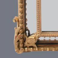 Large  French Gilt Overmantle Mirror (2 of 11)