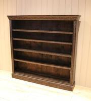 Large Victorian Open Dark Oak Bookcase (2 of 10)