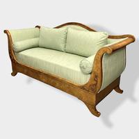 Walnut Biedermeier Sleight Style Sofa