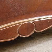 Understated Louis XV Dark Walnut Antique Bed (5 of 6)