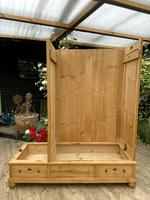 Fabulous! Old Pine Triple Knock Down Wardrobe - Option of Mirror (15 of 19)