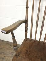 Antique 19th Century Beech & Elm Windsor Armchair (4 of 13)