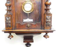 Antique Rocket Cased Single Walnut 8-Day Vienna Regulator Wall Clock by Lenzkirch (8 of 8)