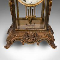 Antique Mantel Clock, French, Gilt Bronze, Ormolu, Brocot Escapement, Circa 1900 (5 of 12)