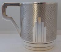 Art Deco 1932 Hallmarked Solid Silver Christening Mug Tankard Mint Condition (3 of 9)