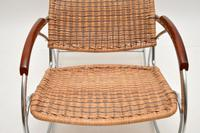 1970's Vintage Rattan & Chrome Rocking Chair (8 of 12)