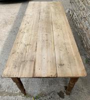 Large Antique Pine Farmhouse Table on Turned Legs (6 of 19)