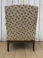 Shapely Antique Napoleon III Armchair for Re-upholstery (6 of 8)