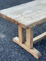 Large French Rustic Bleached Oak Farmhouse Dining Table (30 of 36)