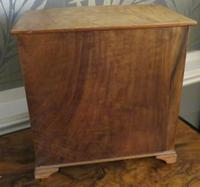 Burr Walnut Miniature Chest of Drawers 20th Century (4 of 6)
