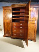 Fine Quality Early 20th Century Mahogany Breakfront Wardrobe (4 of 5)