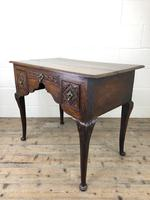 Antique 19th Century Carved Oak Lowboy Side Table (4 of 17)
