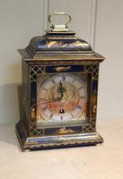 Small Blue Chinoiserie Bracket Clock (8 of 11)