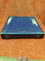 Vintage USA Oneida Sheffield Plate Melon Spoon Set in Case C1950 (6 of 12)