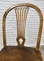 Set of 4 Windsor Kitchen Chairs with Unusual Back-rest Style (7 of 7)