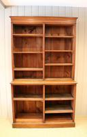 Solid Oak Open Cabinet Bookcase (4 of 11)