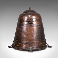 Antique Beehive Fireside Store, Copper, Fire Bucket, Coal Bin, Victorian c.1850 (5 of 12)