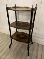 French Rosewood & Marquetry Etagere (3 of 7)