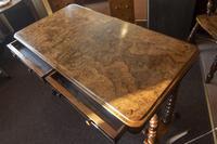 Burr Walnut Writing Table (8 of 8)