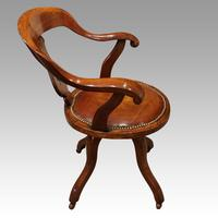 Victorian Mahogany Revolving Desk Chair (2 of 5)